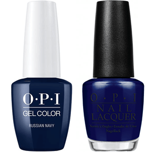 OPI GelColor And Nail Lacquer, R54, Russian Navy, 0.5oz