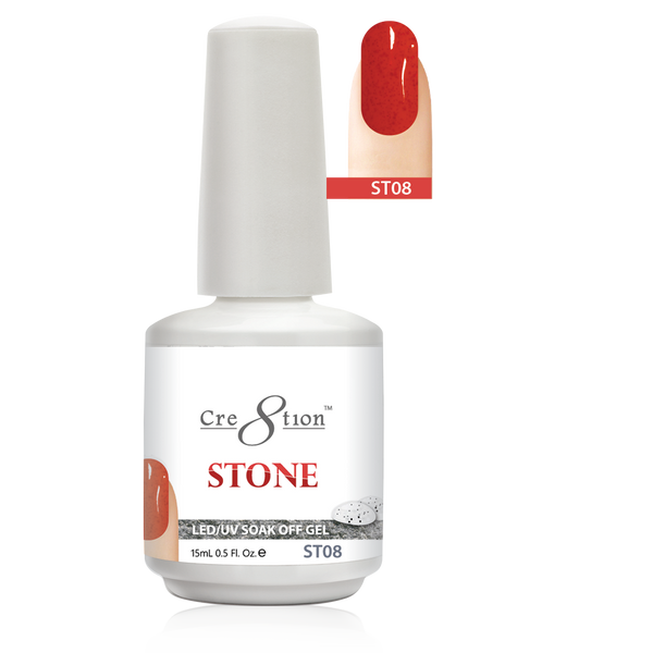 Cre8tion Stone Gel Polish, ST08, 0916-0734, 0.5oz