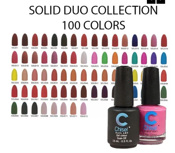 Chisel Matching Gel + Lacquer Duo Solid collection