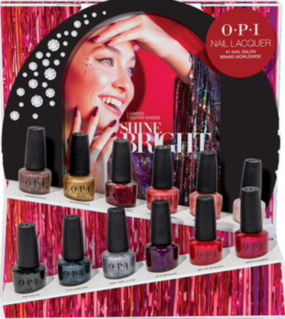 OPI Shine Bright 0.5oz Duo full line 12 colors