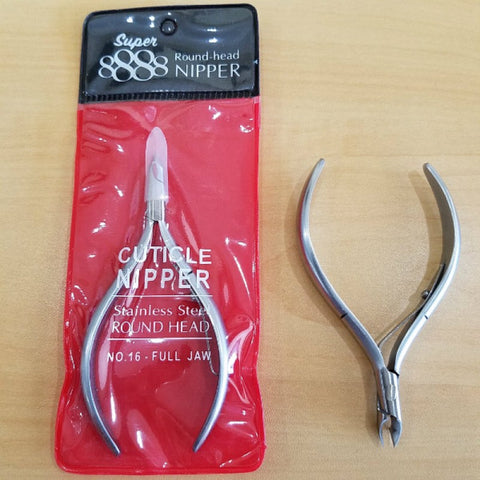 SUPER 8888 Round-Head Cuticle Nipper | Full Jaw No.16