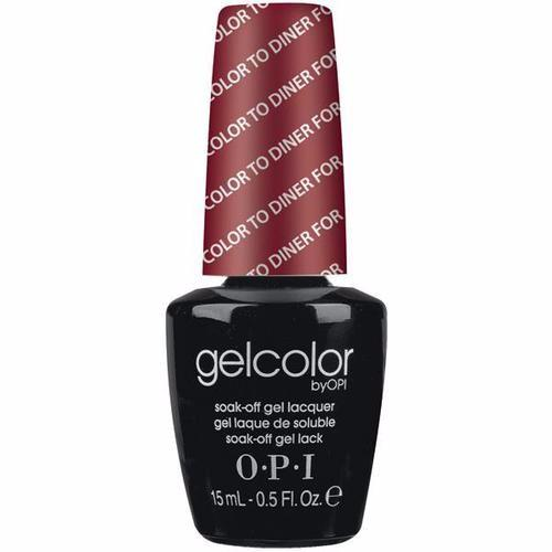 OPI GelColor, T25, Color to Dinner For, 0.5oz