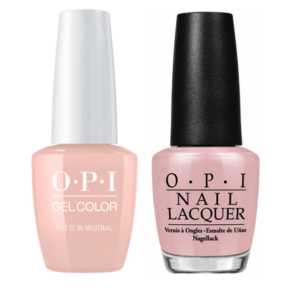 OPI GelColor And Nail Lacquer, T65, Put It In Neutral, 0.5oz