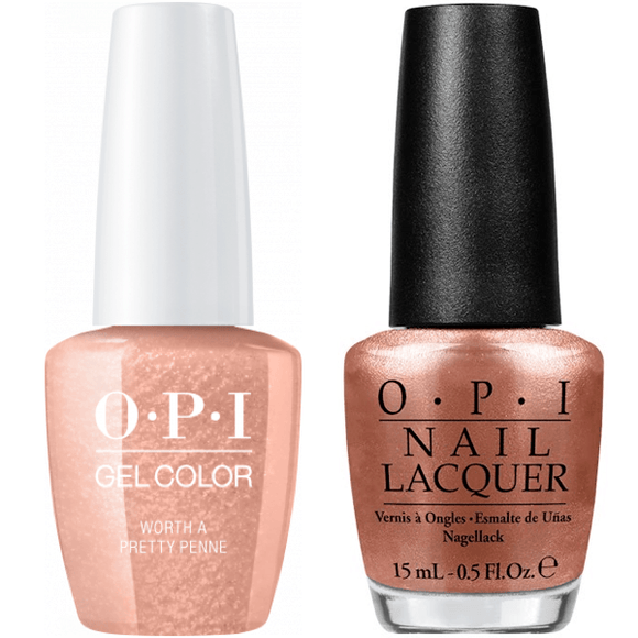 OPI GelColor And Nail Lacquer, V27, Worth A Pretty Penne, 0.5oz