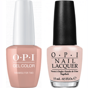 OPI GelColor And Nail Lacquer, V28, Tiramisu for Two, 0.5oz
