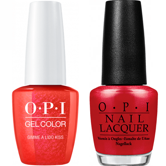 OPI GelColor And Nail Lacquer, V30, Gimme a Lido Kiss, 0.5oz