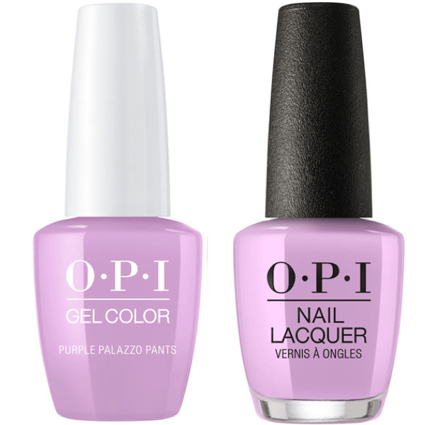 OPI GelColor And Nail Lacquer, V34, Purple Palazzo Pants, 0.5oz