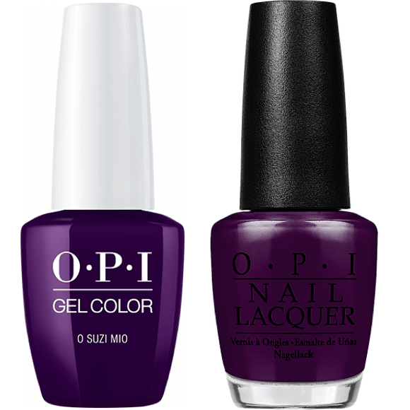 OPI GelColor And Nail Lacquer, V35, O Suzi Mio, 0.5oz