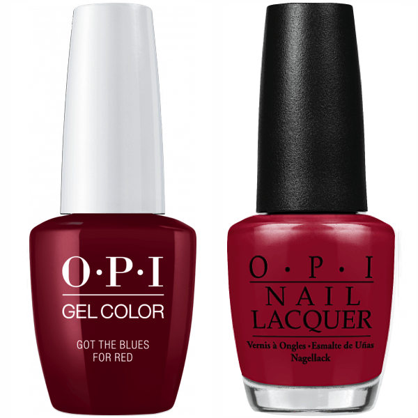 OPI GelColor And Nail Lacquer, W52, Got the Blues for Red, 0.5oz