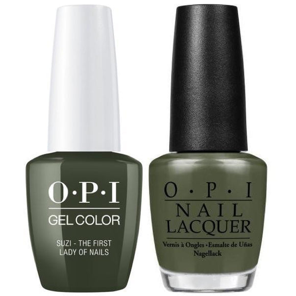 OPI GelColor And Nail Lacquer, W55, Suzi – The First Lady Of Nails, 0.5oz