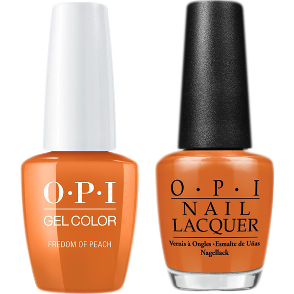 OPI GelColor And Nail Lacquer, W59, Freedom Of Peach, 0.5oz