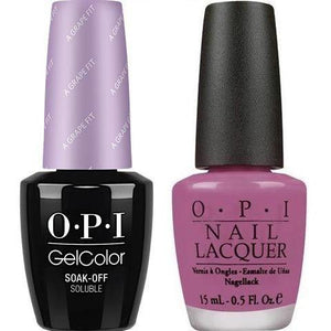 OPI GelColor And Nail Lacquer, B87, A Grape Fit, 0.5oz