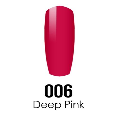 DC Nail Lacquer And Gel Polish (New DND), DC006, Deep Pink, 0.6oz