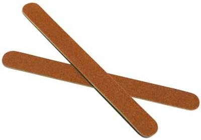Nail File Brown, Grit 80/80, Made In USA