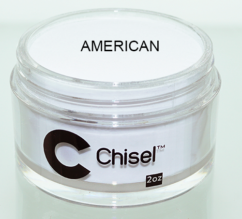 Chisel 2in1 Dipping Powder, Pink & White Collection, AMERICAN, 2oz
