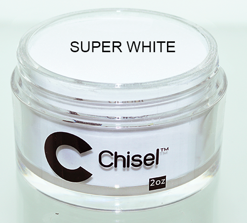 Chisel 2in1 Dipping Powder, Pink & White Collection, SUPER WHITE, 2oz