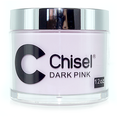 Chisel 2in1 Dipping Powder, DARK PINK, 12oz