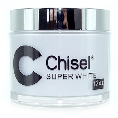 Chisel 2in1 Dipping Powder,  SUPER WHITE, 12oz