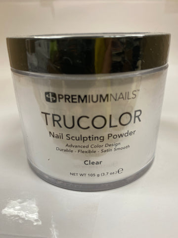 PremiumNails TRUCOLOR Nail Sculpting Powder | Clear 3.7oz.