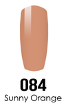 DC Nail Lacquer And Gel Polish (New DND), DC084, Sunny Orange, 0.6oz