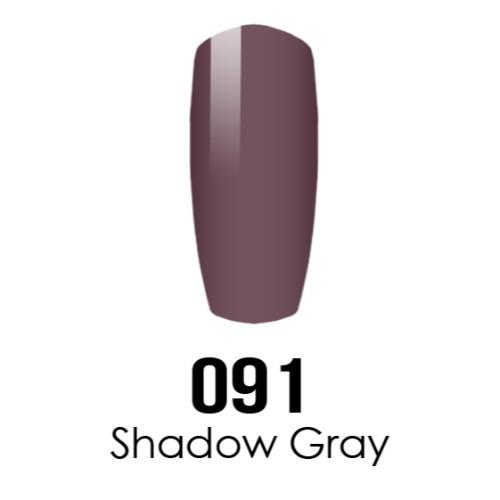 DC Nail Lacquer And Gel Polish (New DND), DC091, Shadow Gray, 0.6oz