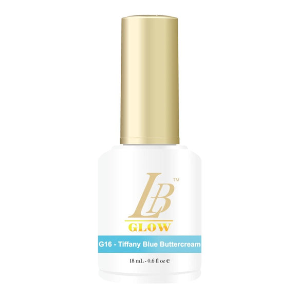 IGel LB Glow In The Dark Gel Polish 0.6oz, G16 Tiffany Blue Buttercream