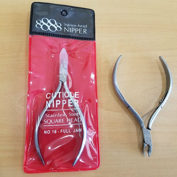 SUPER 8888 Square-Head Cuticle Nipper | Full Jaw No.16