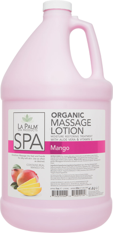 La Palm Organic Massage Lotion - Mango 1 Gal.