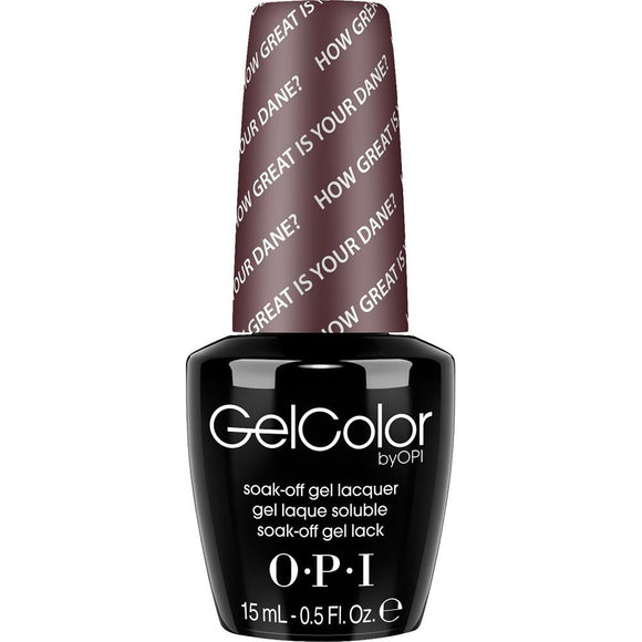 OPI GelColor, N44, How Great is Your Dane?, 0.5oz