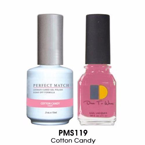 LeChat Perfect Match Nail Lacquer And Gel Polish, PMS119, Cotton Candy, 0.5oz