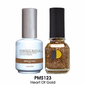 LeChat Perfect Match Nail Lacquer And Gel Polish, PMS123, Heart Of Gold, 0.5oz