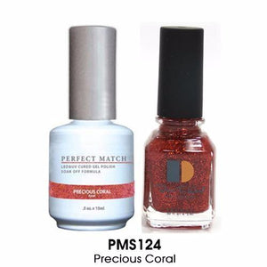 LeChat Perfect Match Nail Lacquer And Gel Polish, PMS124, Precious Coral, 0.5oz