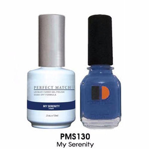 LeChat Perfect Match Nail Lacquer And Gel Polish, PMS130, My Serenity, 0.5oz