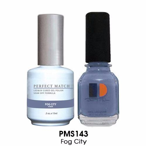 LeChat Perfect Match Nail Lacquer And Gel Polish, PMS143, Fog City, 0.5oz