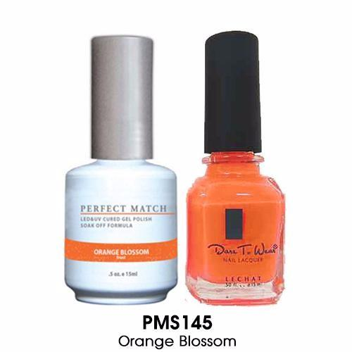 LeChat Perfect Match Nail Lacquer And Gel Polish, PMS145, Orange Blossom, 0.5oz