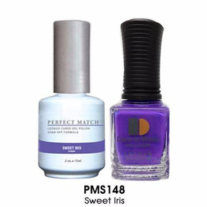 LeChat Perfect Match Nail Lacquer And Gel Polish, PMS148, Sweet Iris, 0.5oz