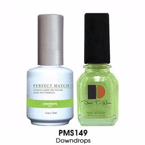 LeChat Perfect Match Nail Lacquer And Gel Polish, PMS149, Dewdrops, 0.5oz