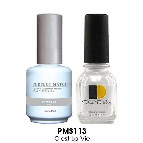 LeChat Perfect Match Nail Lacquer And Gel Polish, PMS113, C'est La Vie, 0.5oz