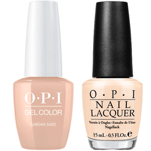 OPI GelColor And Nail Lacquer, P61, Samoan Sand, 0.5oz