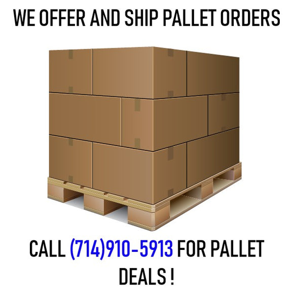 We Ship and Offer Pallet Orders