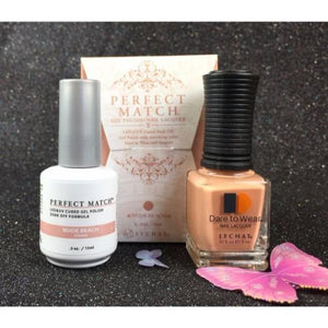 LeChat Perfect Match Nail Lacquer And Gel Polish, PMS177, Nude Beach, 0.5oz