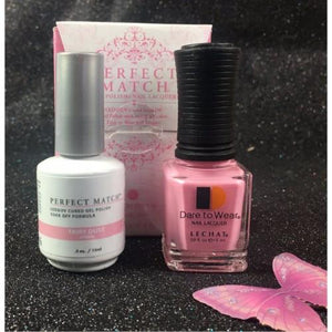 LeChat Perfect Match Nail Lacquer And Gel Polish, PMS193, Fairy Collection, Fairy Dust, 0.5oz