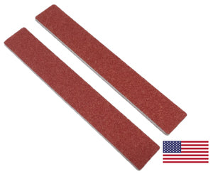 Nail File RED Jumbo, Grit 80/80, Made In USA