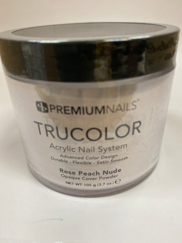 PremiumNails TRUCOLOR Nail Sculpting Powder | Rose Peach Nude 3.7oz.