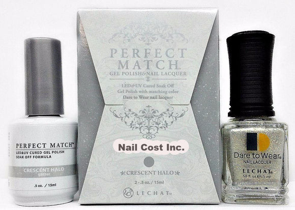 LeChat Perfect Match Nail Lacquer And Gel Polish, PMS219, Moon Goddess Collection, Crescent Halo, 0.5oz