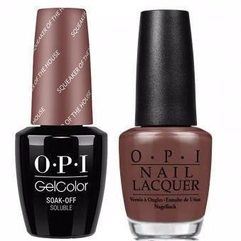 OPI GelColor And Nail Lacquer, W60, Squeaker Of The House, 0.5oz