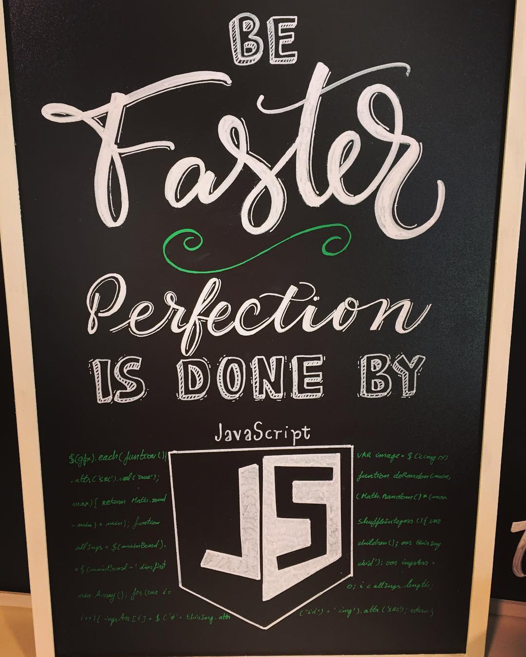 Be Faster Perfection Is Done by JavaScript