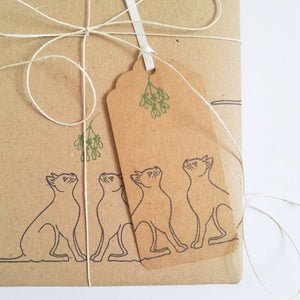 WRAPPED BY ALICE - MISTLETOE CATS