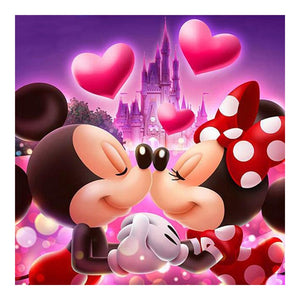 "Full 5D Diy Diamond Painting ""Mickey Mouse couple"""