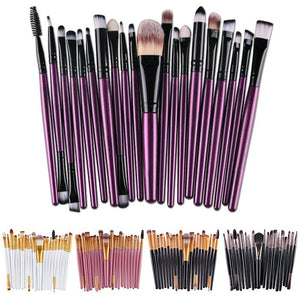 20 Pcs Pro Makeup Brushes Set